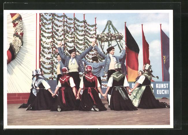 AK Berlin, Festspiele der Volkskunst 1953, Staatliches Volkskunst-Ensemble der DDR, Volkstanz