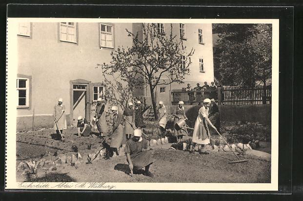 AK Eichstätt, Benediktinerinnen-Abtei St. Walburg, Garten der Haushaltungsschule
