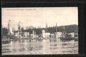 AK Stockholm, Konstindustriutställningen 1909, Blick zum Ausstellungsgelände