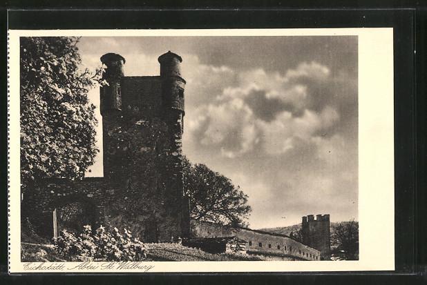 AK Eichstätt, Benediktiner-Abtei St. Walburg, Alter Turm im Garten