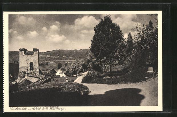 AK Eichstätt, Benediktiner-Abtei St. Walburg, Gartenpartie