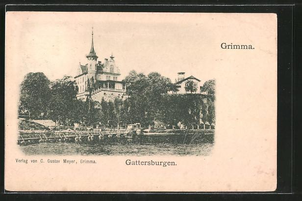 AK Grimma, Blick auf das Hotel Gattersburg 0