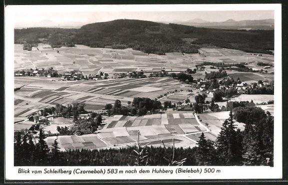 AK Czorneboh, Blick vom Schleifberg nach dem Huhberg 0