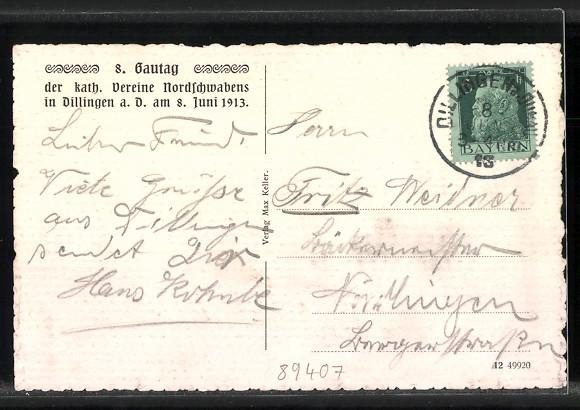 AK Dillingen, Partie am kgl. Schloss 1