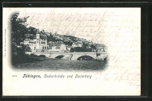 AK Tübingen, Neckarbrücke & Oesterberg 0