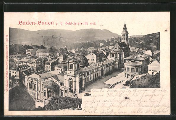 AK Baden-Baden, Blick von der Schlossterrasse 0