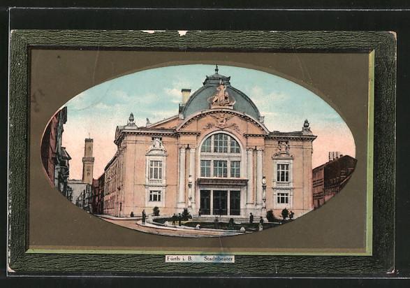 AK Fürth, Partie am Stadttheater 0