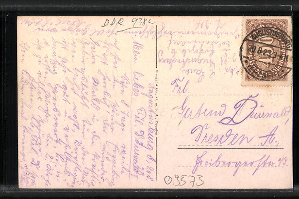 AK Augustusburg, Dresdner Stadtgendarmerie-Erholungsheim 1