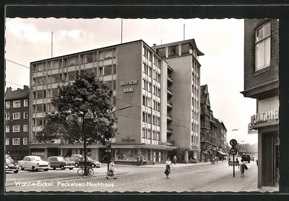 AK Wanne-Eickel, Strassenpartie am Peckelsen-Hochhaus 0