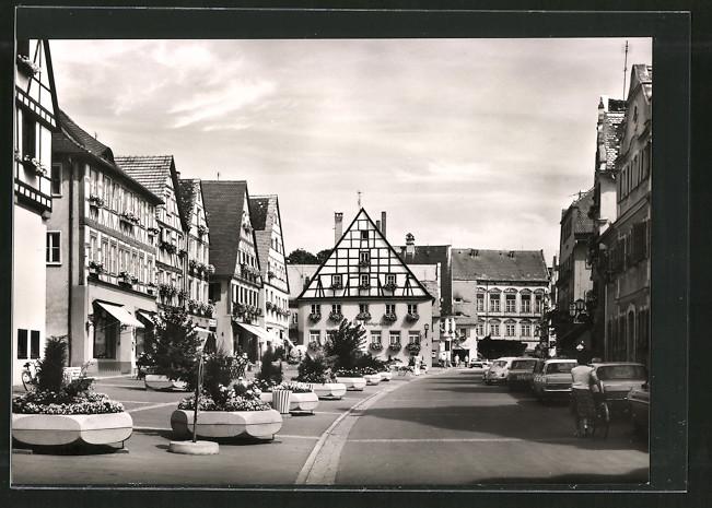 AK Oettingen, Fachwerkgebäude am Marktplatz 0
