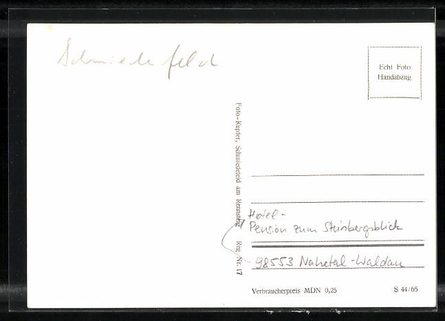 AK Nahetal-Waldau, Hotel-Pension zum Steinbergsblick 1