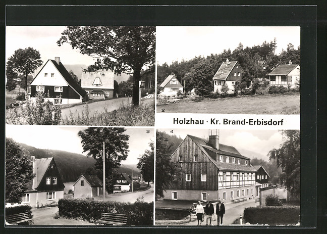 AK Holzhau, Partien mit Oberholzhau, Niederdorf & Ferienheim