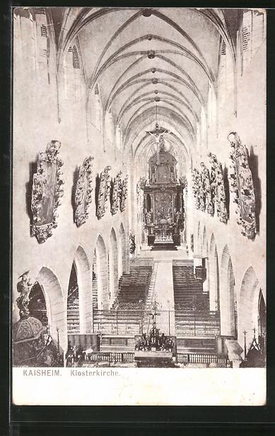 AK Kaisheim, Klosterkirche, Innenansicht 0