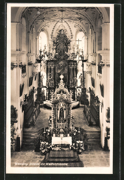 AK Wemding, Innenansicht der Wallfahrtskirche 0