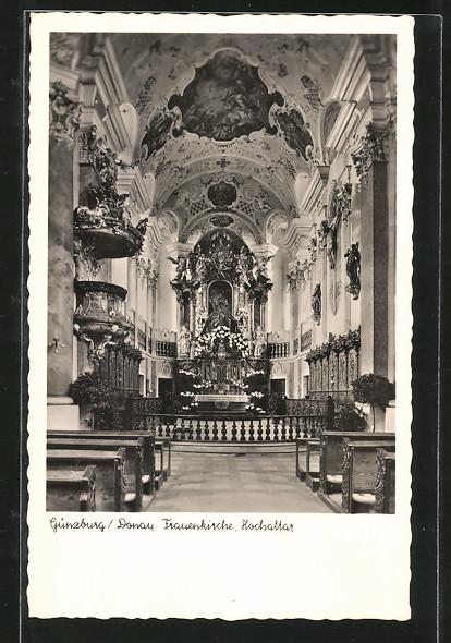 AK Günzburg, Frauenkirche, Hochaltar 0