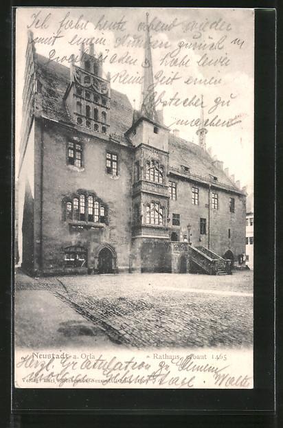 AK Neustadt, Partie am Rathaus 0