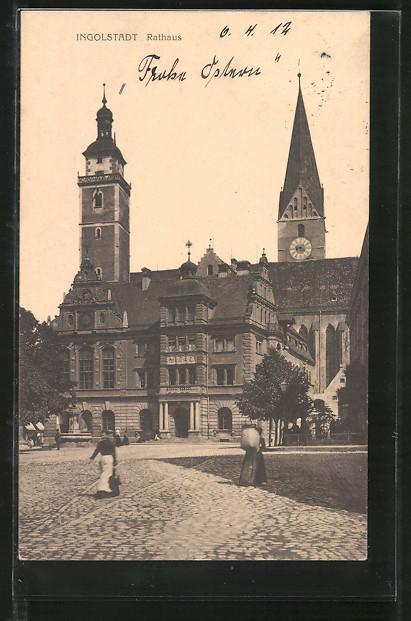 AK Ingolstadt, Strassenpartie am Rathaus 0