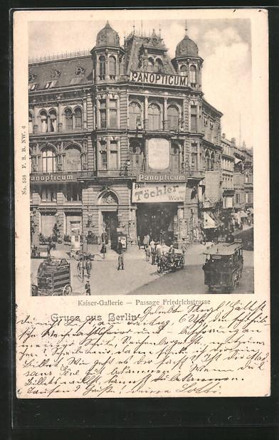 AK Berlin, Kaiser-Gallerie, Passage Friedrichstrasse 0