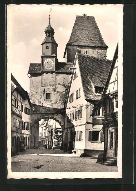 AK Rothenburg, Strassenpartie am Marksturm 0