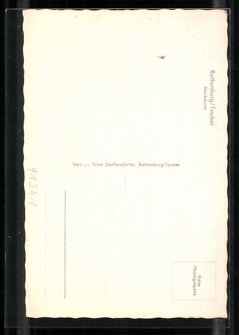 AK Rothenburg, Strassenpartie am Marksturm 1