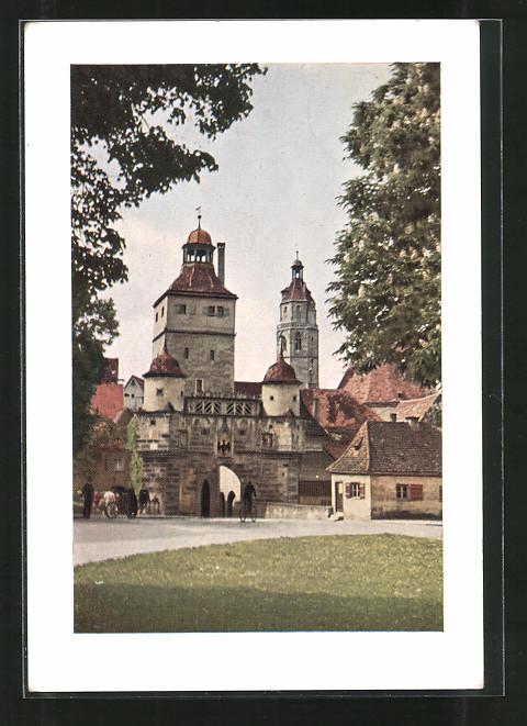 AK Weissenburg, Ansicht vom Ellinger Tor 0