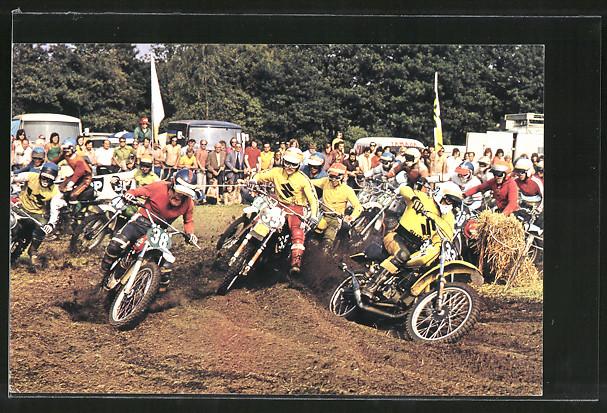 AK Motocross, Rennfahrer Joel Robert 33, Gaston Rahier 35 und Gennady Moissev 38