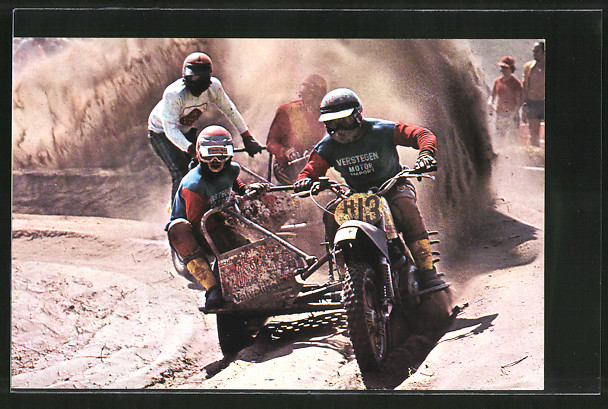 AK Motocross, Seitenwagenrennen, Tony Bens/Henk Martens 13 vor Reki Descheermaeker/Albert Jans