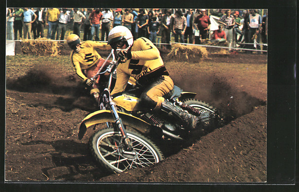 AK Motocross, Rennfahrer Sylvain Geboers vor Joel Robert 0
