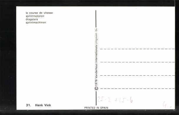 AK Dragsters, Sprintmaschinen, Henk Vink, Startnummer 83, Kawasaki 1