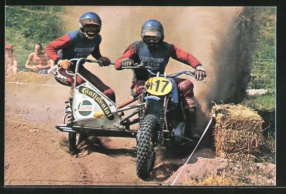 AK Motocross, Seitenwagenrennen, Wil van der Laan und Marius van der Berg