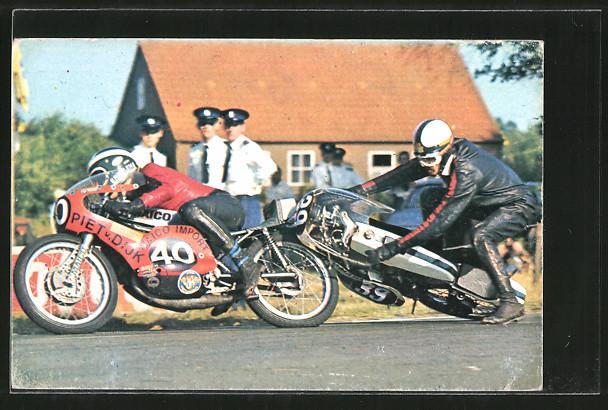 AK Road Racing, Motorradrennen, Sturz von Startnummer 49 0