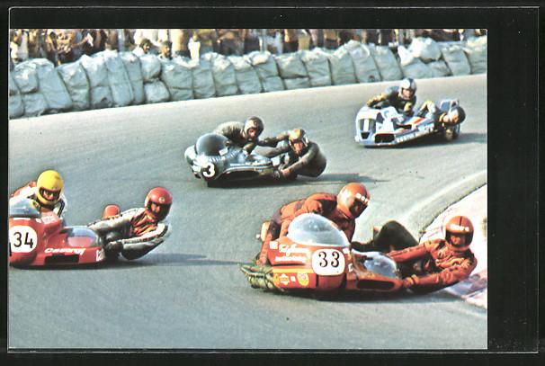 AK Road Racing, Motorradrennen, Janssen/Smitz 33 vor Ohrmann/Grube 34, Geerts/van Veen 3 und Brouwer/Mak 1