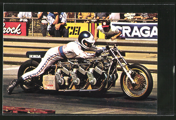 AK Sprintmotoren, Dragsters, Russ Collins auf Honda-Motorrad