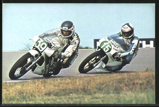 AK Road Racing, Motorradrennen, Bernanrd Fau 39 vor Paolo Pileri 15 0