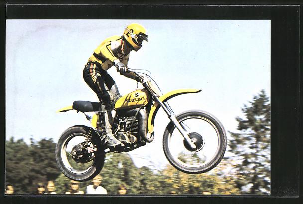 AK Motocross, Motorradrennfahrer Roger Decoster auf Suzuki