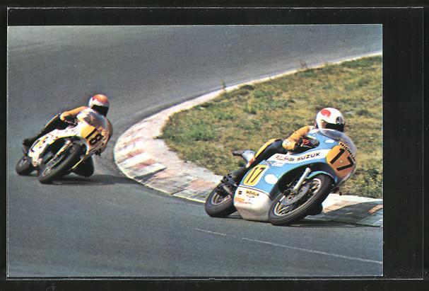 AK Road Racing, Motorradrennen, Marcel Ankoné 17 vor Rob Bron 18