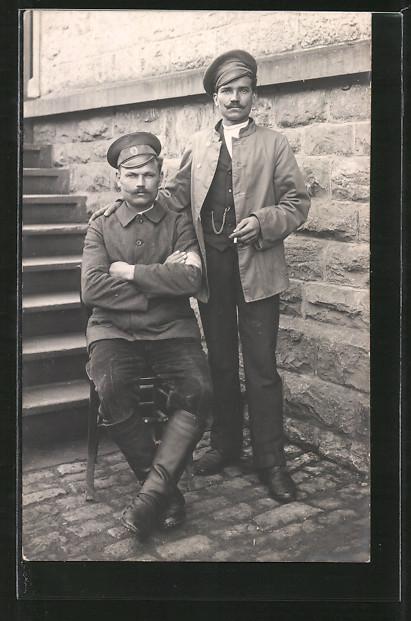 Foto-AK Zwei russische Kriegsgefangene 0