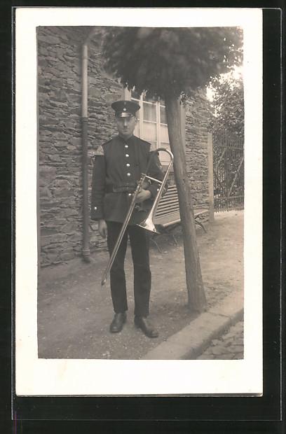 Foto-AK Posaune der Militärmusik 0