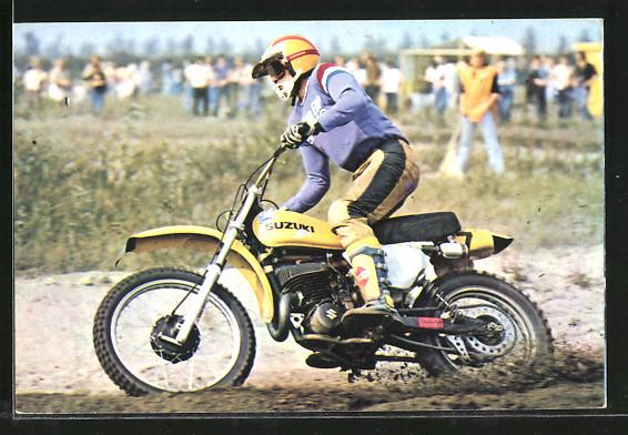 AK Motocross, Motorradrennen, Gerrit Wolsink auf Suzuki
