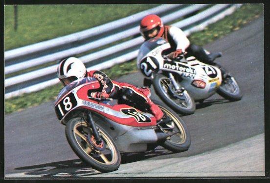 AK Road Racing, Motorradrennen, Angel Nieto vor Werner Schmied