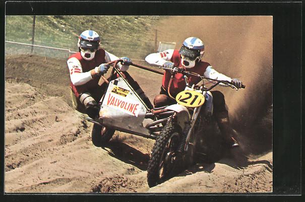 AK Motocross, Seitenwagenrennen, Per Jorgensen und Torben Larsen