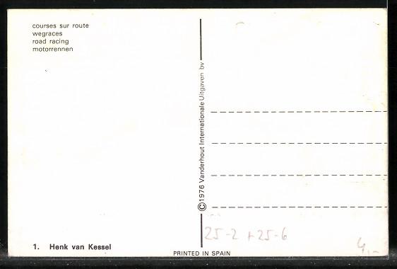 AK Road Racing, Motorradrennen, Henk van Kessel auf Honda 1