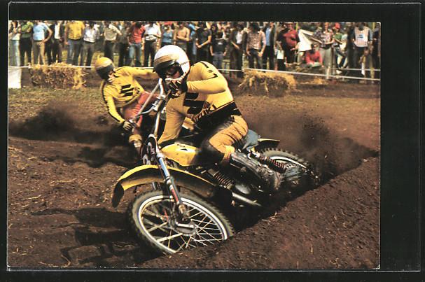 AK Motocross, Motorradrennen, Sylvain Geboers und Joel Robert auf Suzuki