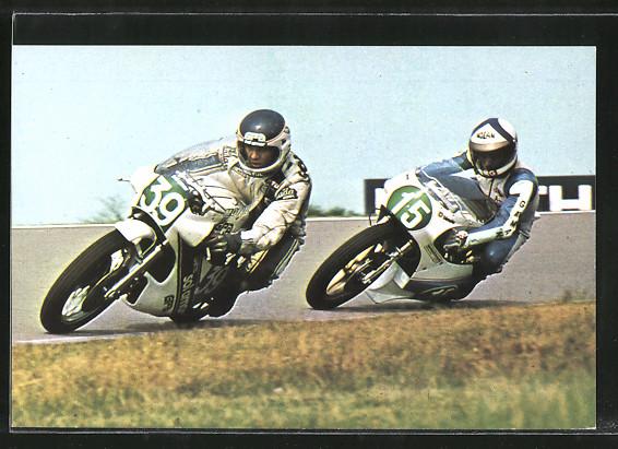 AK Road Racing, Motorradrennen, Bernard Fau 39 vor Paolo Pileri 15