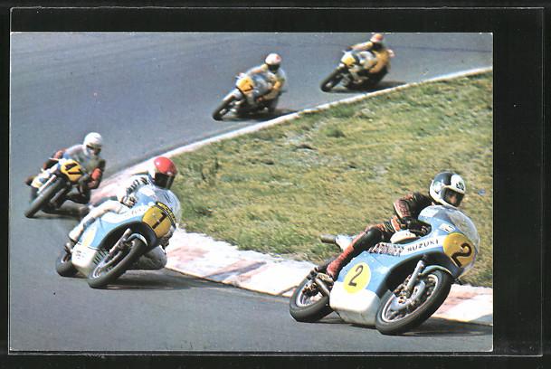AK Road Racing, Motorradrennen, Boet van Dulmen 2 vor Wil Hartog 1 und Charlie Williams 47