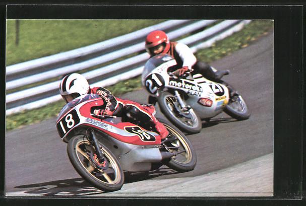 AK Road Racing, Motorradrennen, Angel Nieto 18 vor Werner Schmied 21