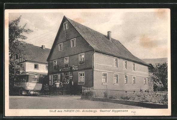 AK Hagen, Gasthof Biggemann 0