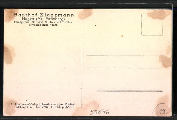 AK Hagen, Gasthof Biggemann 1