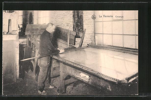 AK La Verrèrie, Coupage, Glasherstellung