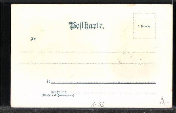Lithographie Komponist Franz von Liszt, Gebäude 1